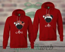 Mr Mrs karácsonyi páros kapucnis pulóver