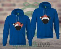 Minnie Mickey karácsonyi páros kapucnis pulóver