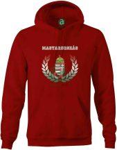 Magyarország nemzeti színű babércímeres kapucnis pulóver